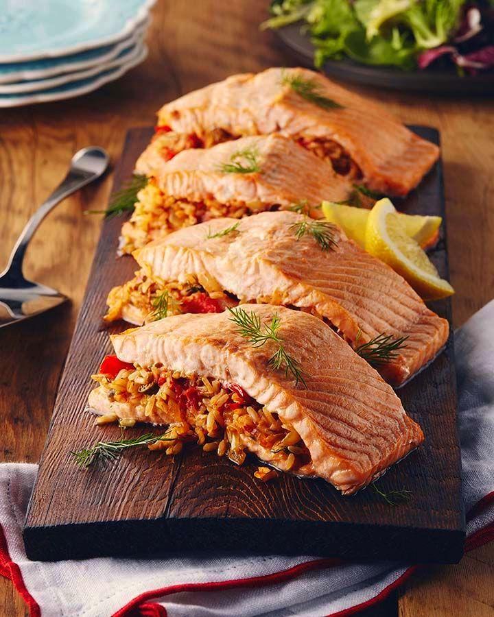 лосось с рисом на гриль-доске.jpg